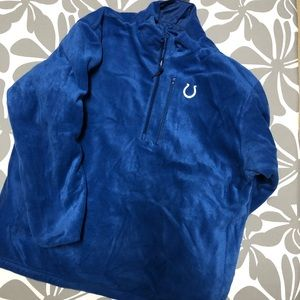 Official NFL COLTS 3/4 zip reversible jacket